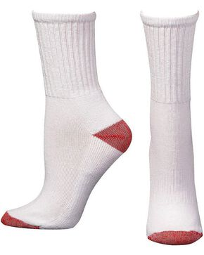 Boot Doctor Youth Crew Socks - 3 Pack, White, hi-res