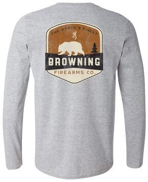 Browning Men's Bear Banner Long Sleeve Tee, Grey, hi-res
