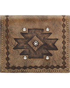 American West Rustic Brown Boyfriend Ladies Soft Bi-Fold Wallet , , hi-res