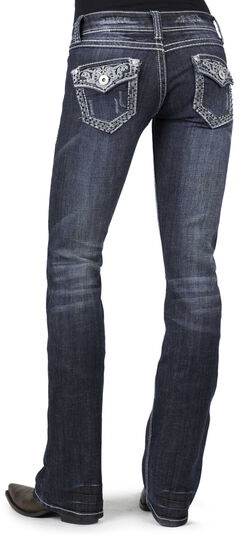 Stetson Women's 818 Fit Contemporary Contrast Stitch Bootcut Jeans - Plus, , hi-res