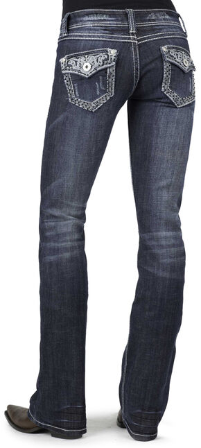 Stetson Women's 818 Fit Contemporary Contrast Stitch Bootcut Jeans - Plus, Denim, hi-res