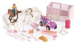 Stall & Four-Wheeler Stable Toy Set, , hi-res