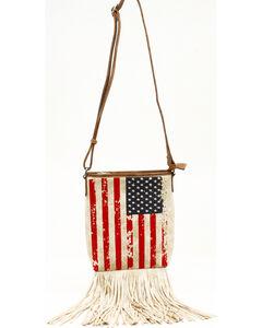 Blazin Roxx Women's Americana Fringe Messenger Bag, , hi-res