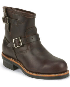 "Chippewa Men's Cognac 7"" Engineer Boots - Steel Toe, , hi-res"