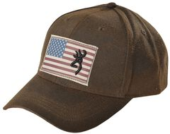 Browning American Flag Buckmark Logo Cap, , hi-res