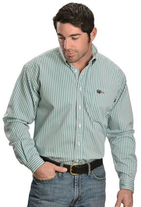 Cinch ® Flame Resistant Multi Stripe Work Shirt, White, hi-res