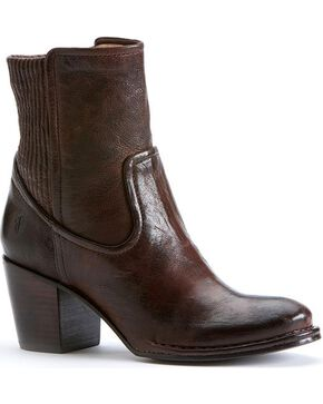 Frye Women's Lucinda Scrunch Short Boots - Round Toe, Dark Brown, hi-res