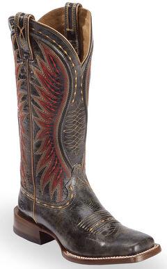 Ariat Black Vaquera Cowgirl Boots - Square Toe , , hi-res