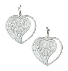 Montana Silversmiths Women's Heart Swept Away Earrings , , hi-res