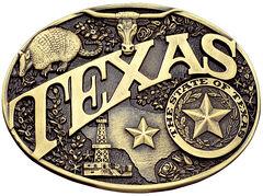 Montana Silversmiths Texas State Heritage Attitude Belt Buckle, , hi-res