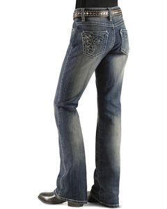 Girls' Wrangler Rock 47 Foil Sequins & Rhinestone Jeans - 4-6X, , hi-res