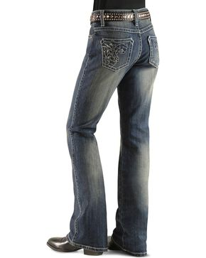 Girls' Wrangler Rock 47 Foil Sequins & Rhinestone Jeans - 4-6X, Denim, hi-res
