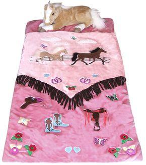 Kids' Cowgirl Sleeping Bag, Pink, hi-res