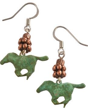 Julie Rose Running Horses Earrings, Green, hi-res