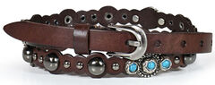 Shyanne Women's Turquoise Studded Belt, , hi-res