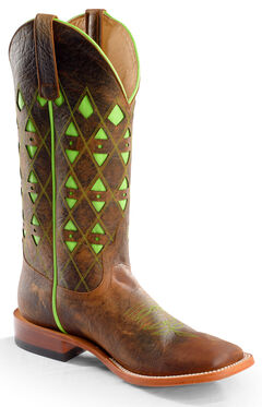 Horse Power Men's Toast Bison Western Boots - Square Toe, , hi-res