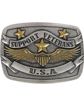 Cody James Men's Silver Support The veterans Belt Buckle , Silver, hi-res