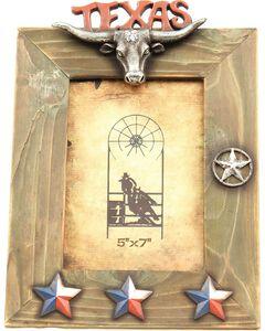 "Texas Lonestar Wooden Photo Frame - 5"" x 7"", , hi-res"