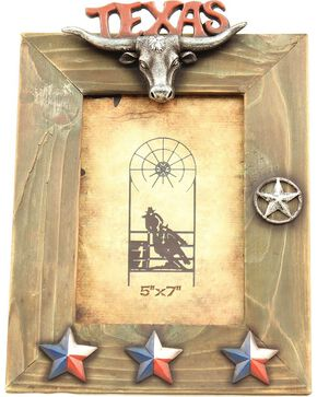 "Texas Lonestar Wooden Photo Frame - 5"" x 7"", Brown, hi-res"