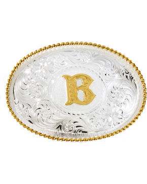 "Montana Silversmiths Initial ""B"" Buckle, Silver, hi-res"