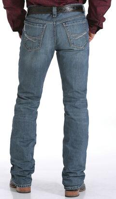 Cinch Men's Indigo Ian Mid Rise Cross Stitch Jeans - Slim Boot, , hi-res