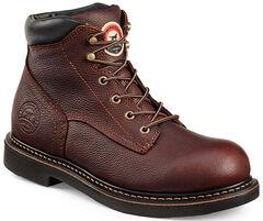 Red Wing Irish Setter Brown Farmington Work Boots - Aluminum Toe   , , hi-res