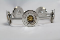 SouthLife Supply Susan Shotshell Bangle Bracelet in Traditional Silver, Silver, hi-res