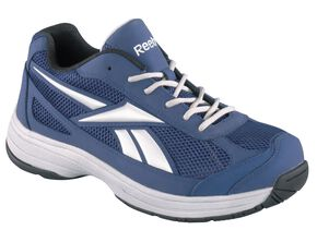 Reebok Men's Ketee Reflective Jogger Work Shoes - Steel Toe, Blue, hi-res