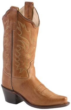 Old West Boys' Tan Canyon Cowboy Boots - Snip Toe, , hi-res