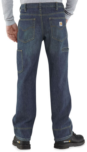 Carhartt Relaxed Fit WorkFlex Linden Jeans, Worn Denim, hi-res