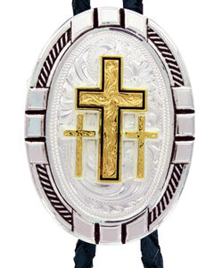 Montana Silversmiths New Traditions Four Directions Cross Bolo Tie, , hi-res