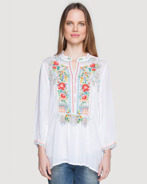 Johnny Was Women's Mandala Tunic, White, hi-res
