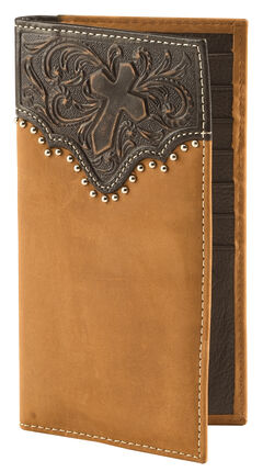 Cody James Men's Tooled Cross Wallet, , hi-res