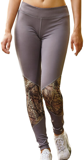 Wilderness Dreams Mossy Oak Break-Up Country Gunmetal Gray Active Tights, Gunmetal, hi-res