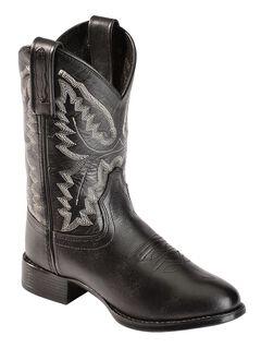 Old West Boys' Ultra Flex Black Cowboy Boots, , hi-res