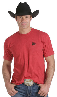 Cinch Men's Red Logo Screen Print T-Shirt , , hi-res