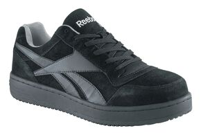 Reebok Women's Soyay Skate Work Shoes - Steel Toe, Black, hi-res
