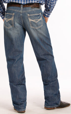 Tuf Cooper Performance by Rock & Roll Denim Competition Fit Jeans - Straight Leg , Denim, hi-res