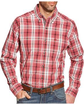 Ariat Men's Plaid Pro Series Thorpe Performance Shirt, Red, hi-res
