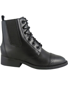 Smoky Mountain Youth Paddock Boots, Black, hi-res