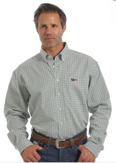 Cinch WRX Flame-Resistant Windowpane Plaid Shirt, , hi-res