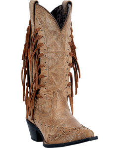 Laredo Tygress Fringe Cowgirl Boots - Snip Toe, , hi-res