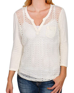 Ariat Women's Cream Cheryl Top, , hi-res