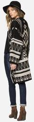 Miss Me Women's Tribal Patterned Oversized Cardigan, Black, hi-res