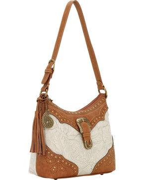 Bandana by American West Castle Rock Shoulder Bag, Cream, hi-res