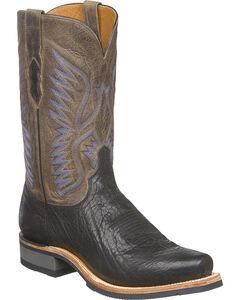Lucchese Men's Cooper Black Bull Shoulder Western Boots - Square Toe, , hi-res