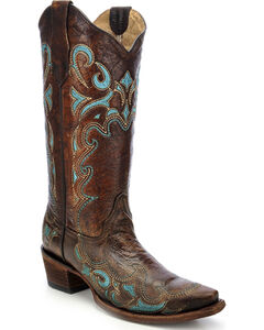 Circle G Embroidered Cowgirl Boots - Snip Toe, , hi-res