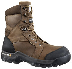 "Carhartt 8"" Composite Toe Rugged Flex Waterproof Insulated Work Boots, , hi-res"