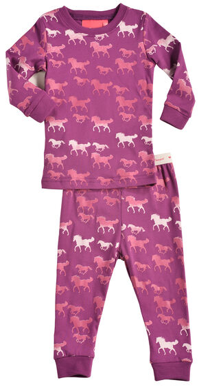 Cowgirl Hardware Infant Girls' Pink Horse Print Playset, Pink, hi-res