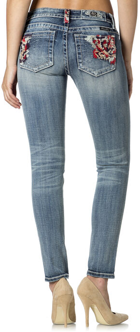 Miss Me Women's Sweet Rose Skinny Jeans, Denim, hi-res